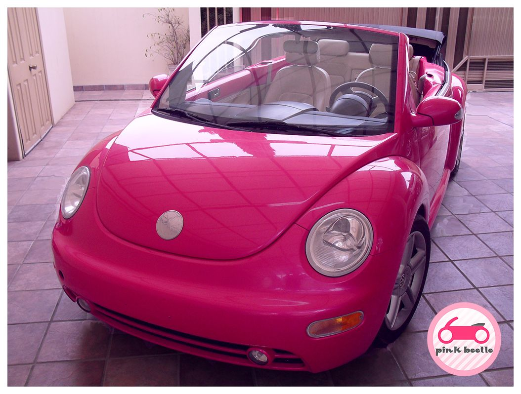 I m going to do this to my beetle someday pink vw new beetle convertible