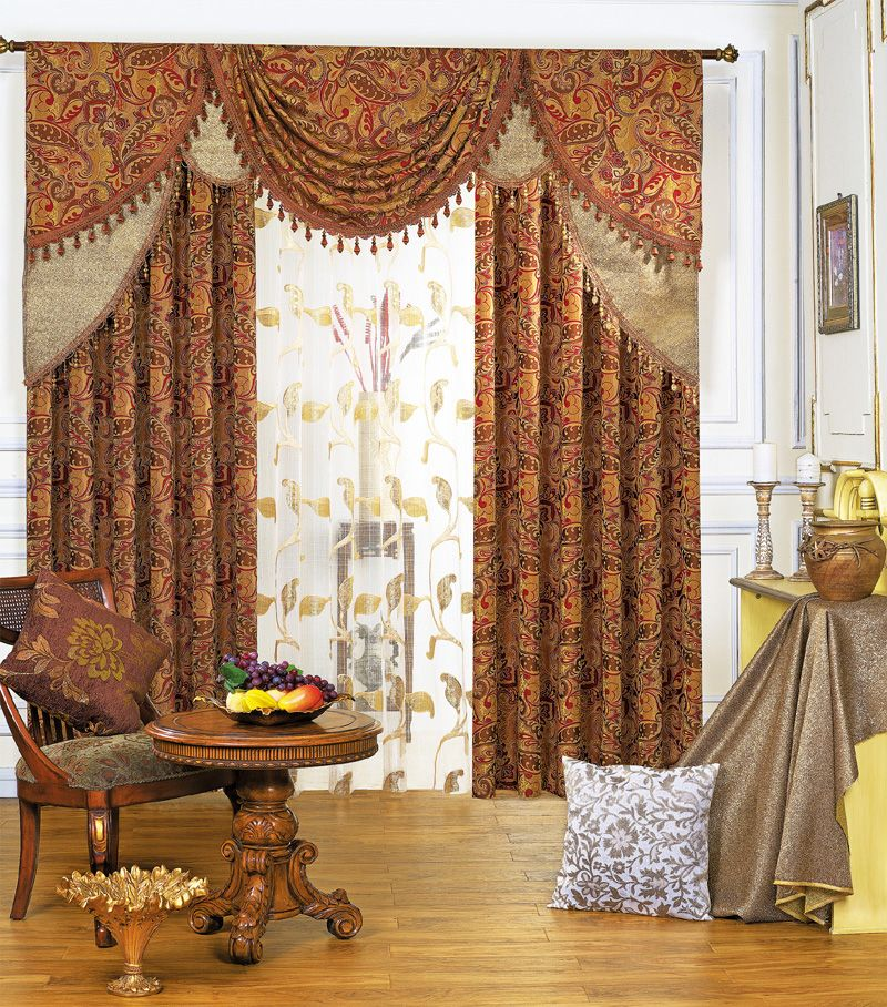 Oriental Curtains Hibiscus Style