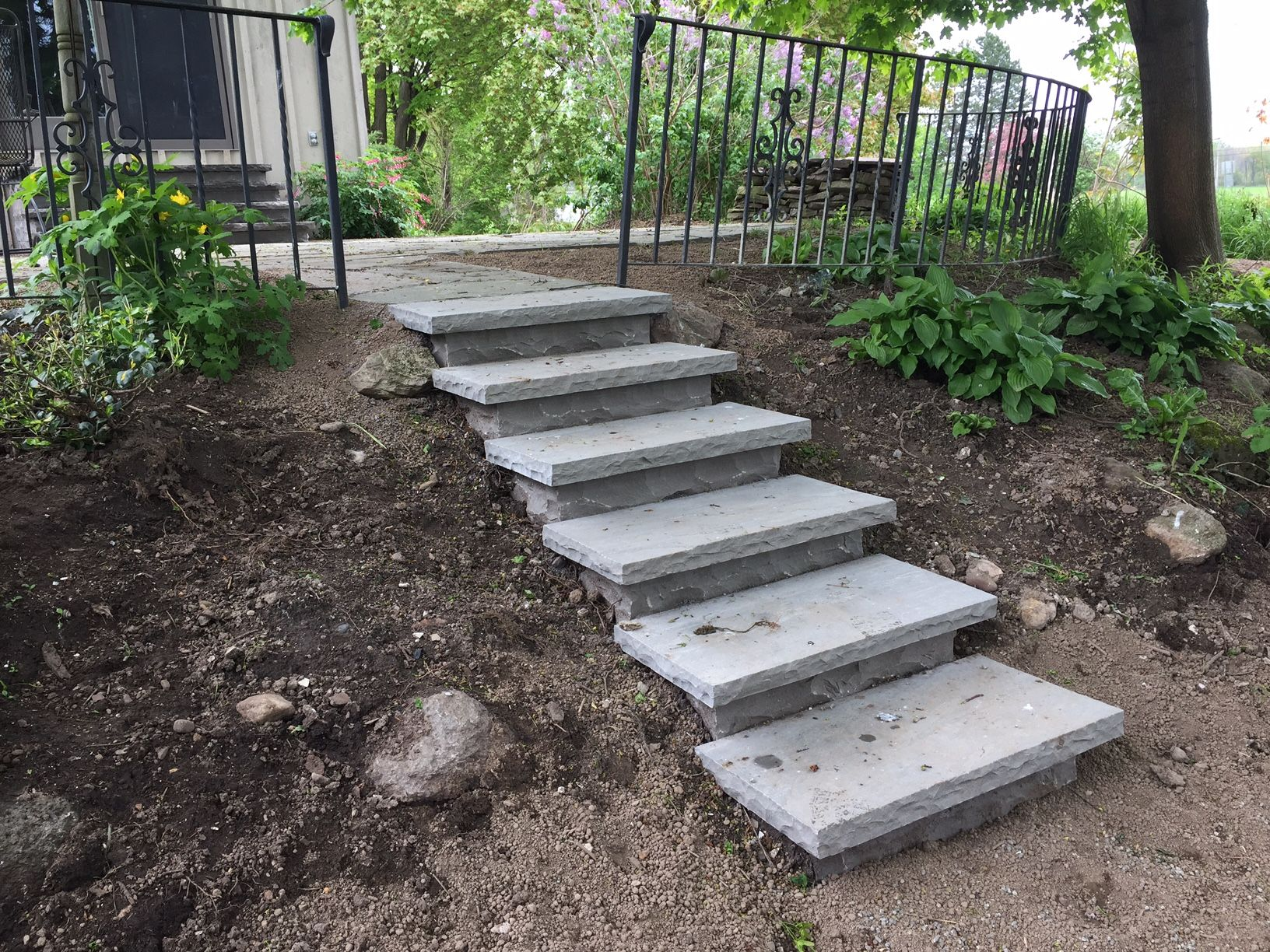 Best Banas Slate Grey Steps Henrietta Ny Outdoor Stairs 640 x 480