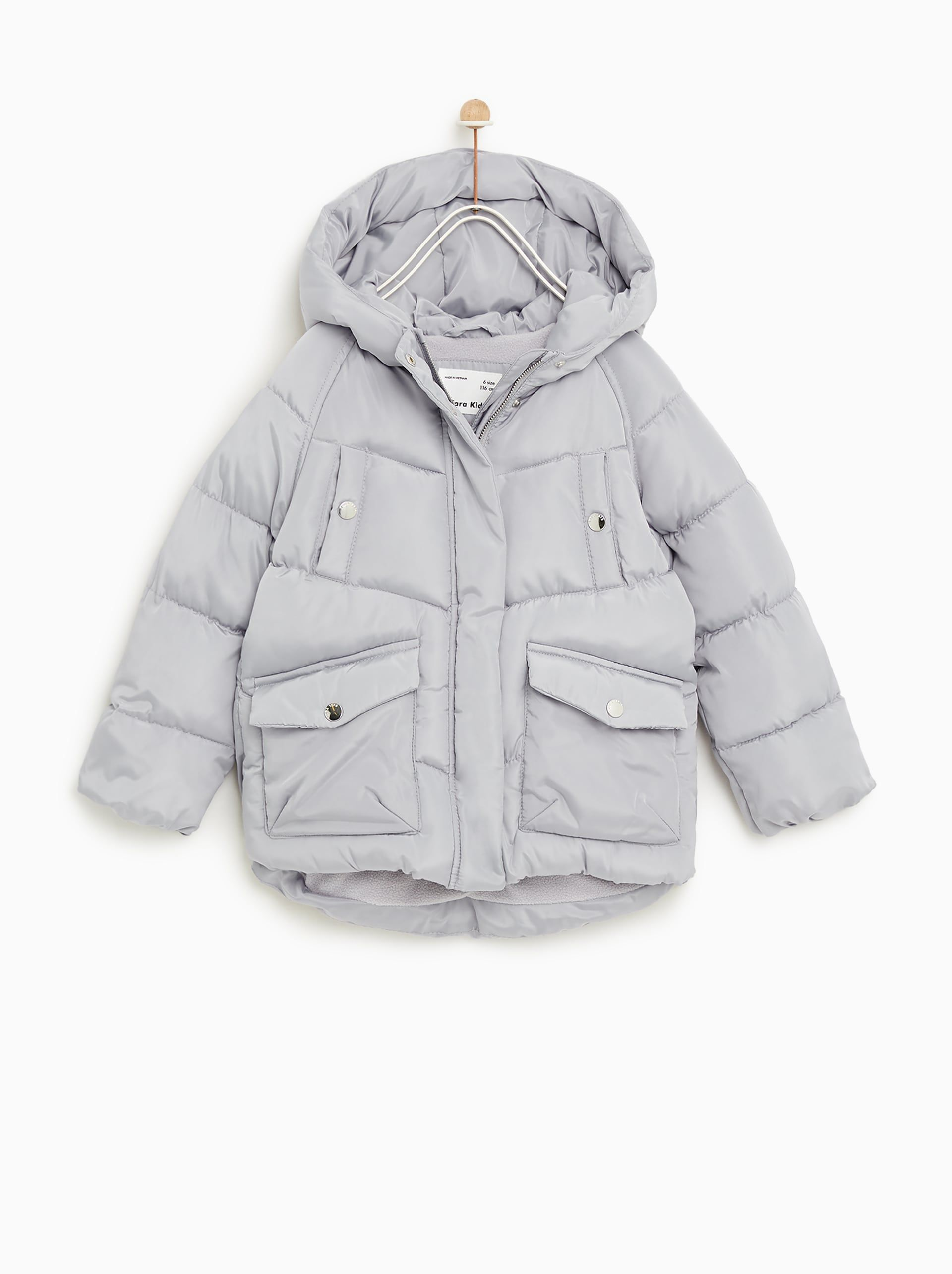 fa389262a89 Image 1 of HOODED PUFFER JACKET from Zara