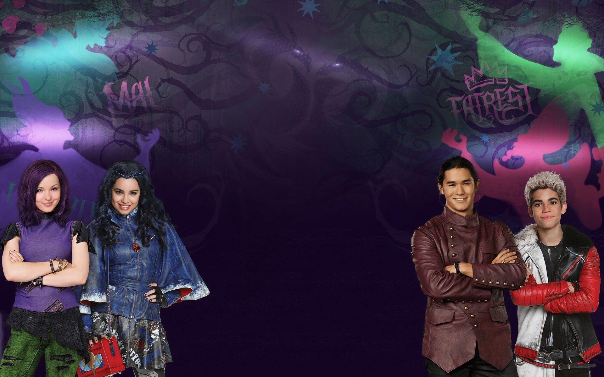 Disney Descendants Wallpaper Wallpapersafari Disney Descendants Disney Channel Descendants Disney Decendants