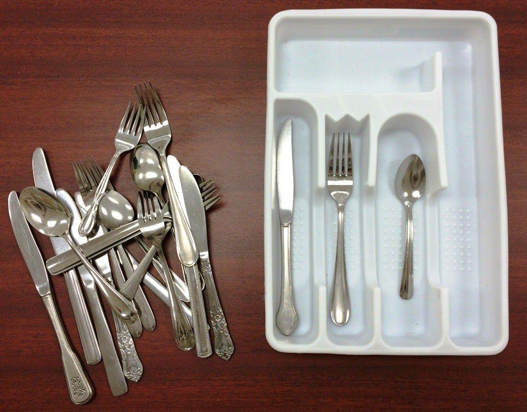 vocational tasks training activities sorting silverware high