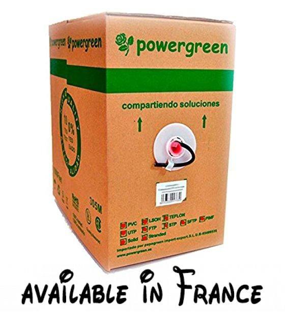 BOBINE DE CABLE CAT6 FTP RIGIDE EXTERNE 305M 23AWG COULEUR NOIR - couleur des fils electrique