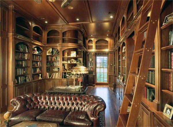 Photo of 90 Home Library Ideen für Männer – Private Reading Room Designs – Mann Stil   Tattoo