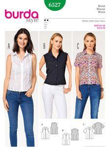 burda style: Neuheiten - Bluse – Hemdkragen – Stehkragen – Ärmelblende