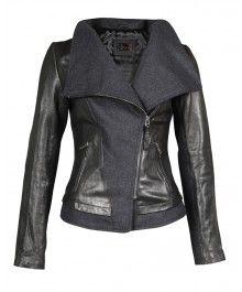 Mackage - Roe Black Distressed Leather Jacket