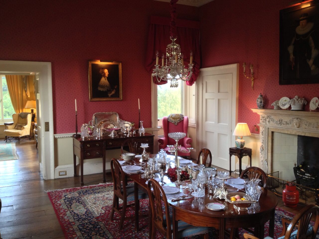 The Red Dining Room At My Former Residence Patshull Hall  En Amusing Dining Room Spanish Translation Decorating Inspiration
