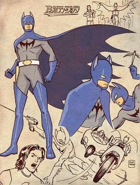 Batman japan style with a hint of Captain Eagle