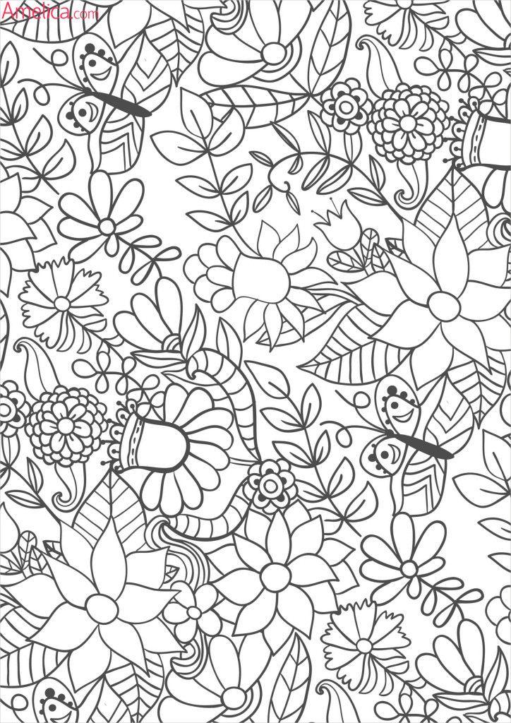 раскраски взрослые волшебный сад, зачарованный лес   일러스트레이션