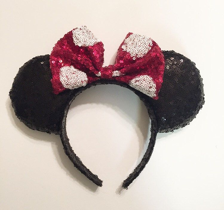 Classic Dots Sequin ears by Earsbyaprincess on Etsy https://www.etsy.com/listing/463467103/classic-dots-sequin-ears