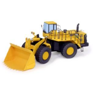 Wheel Loader,Vehicles,Paper Craft,Asia / Oceania,Japan,yellow,working vehicle