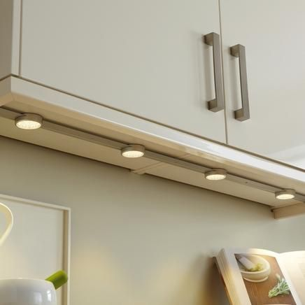 LED Track Lights Kitchen Lighting Howdens Joinery-- under cabinet lighting. Kitchen redo ...
