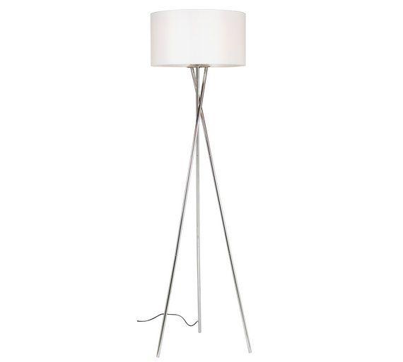 Buy Hygena Chrome Tripod Floor Lamp - White at Argos.co.uk, visit ...