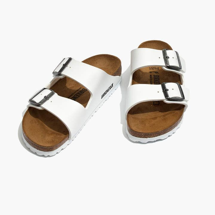 7619c5a75bb Madewell Birkenstock Arizona Sandals in White Birko-Flor