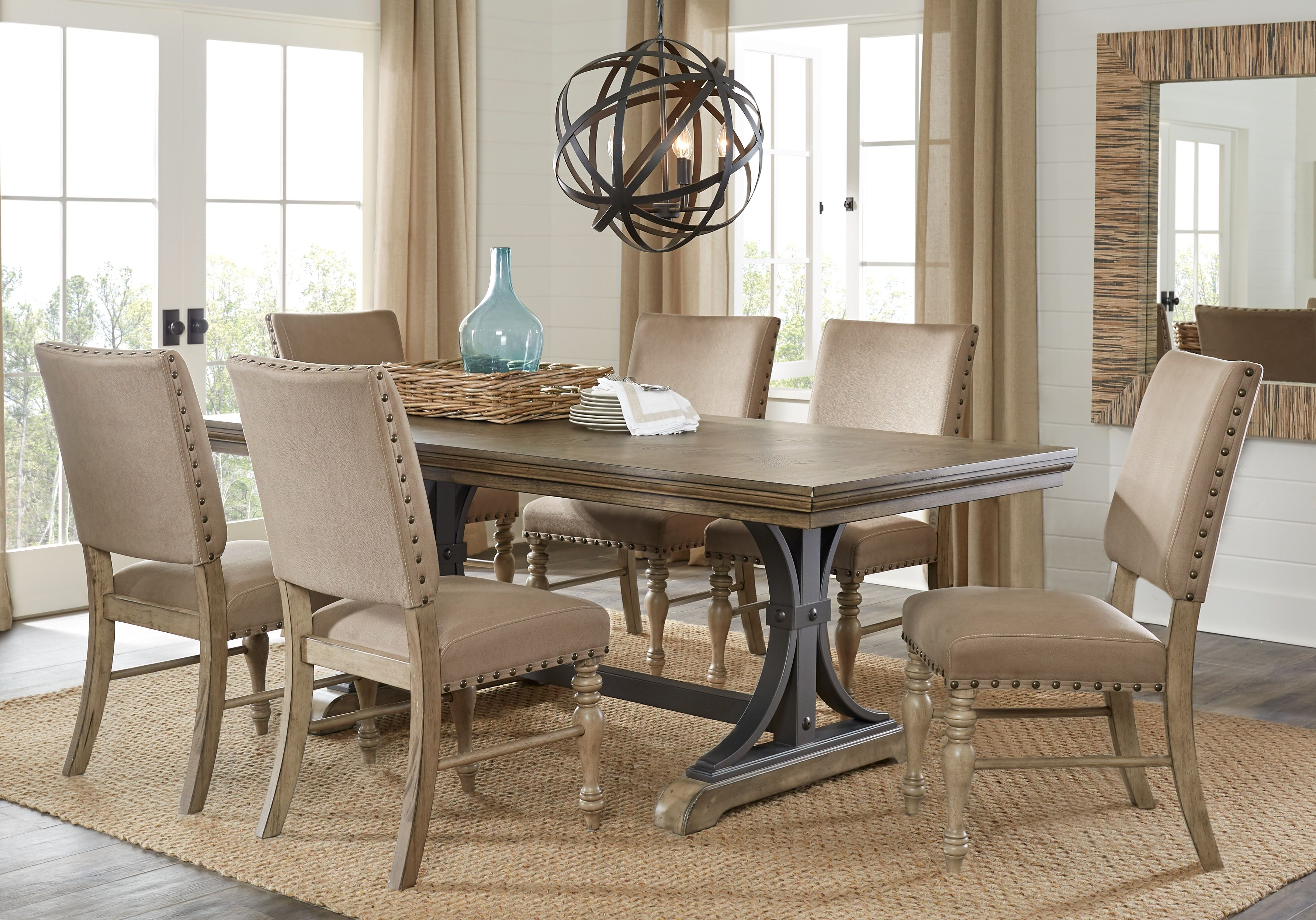 Sierra Vista Driftwood 5 Pc Rectangle Dining Set Dining Room