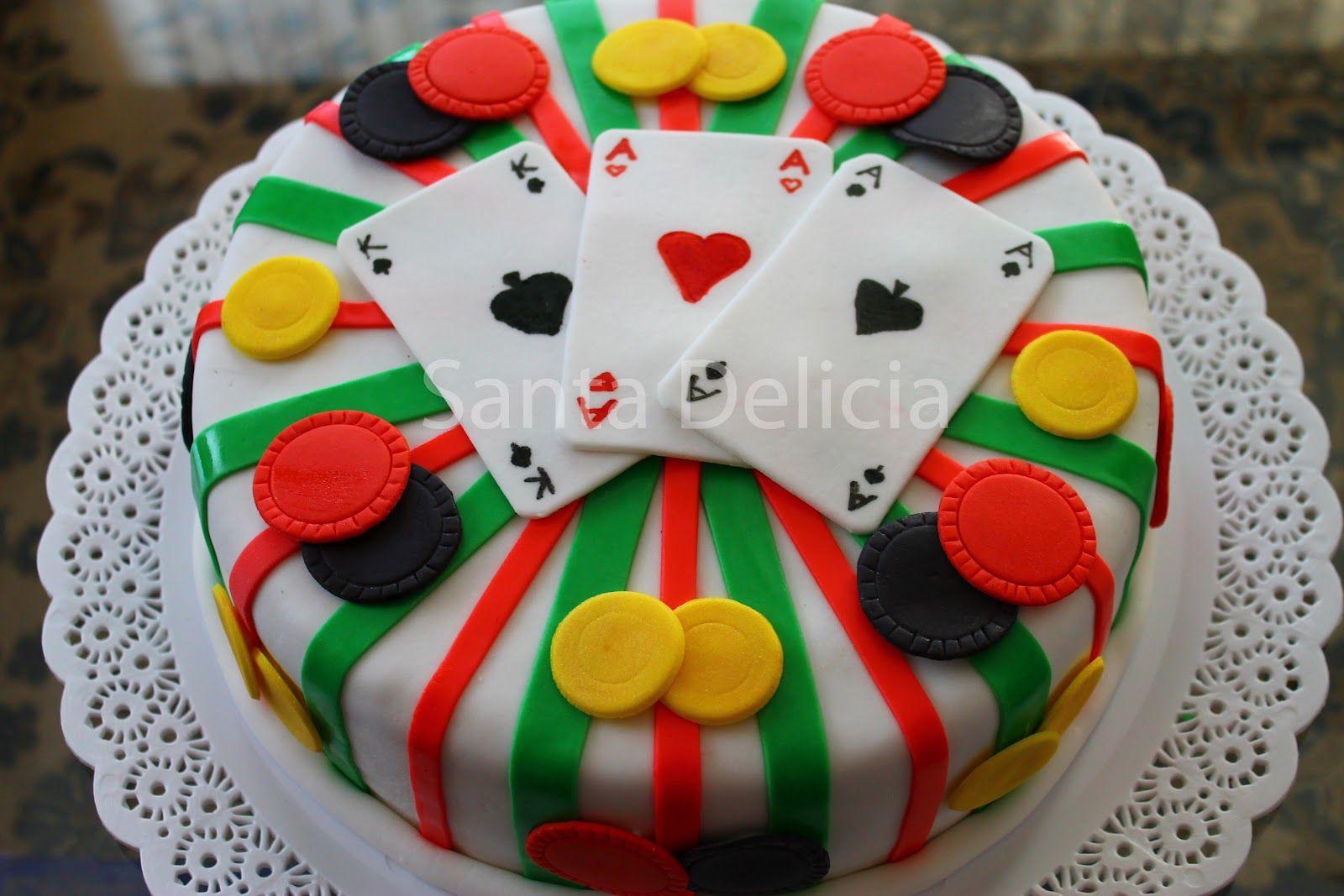 Pastel de fiesta de tema Casino.