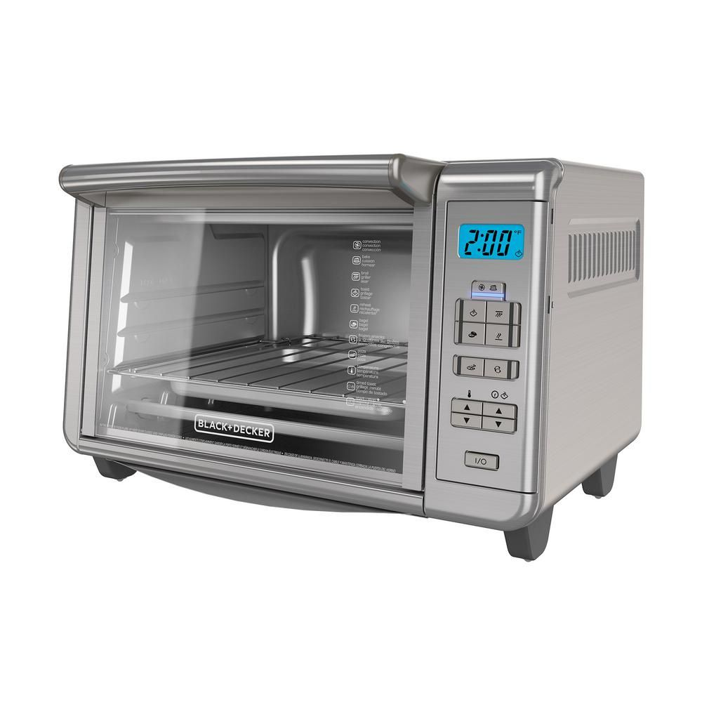 Black Decker 1500 W 6 Slice Stainless Steel Countertop Toaster Oven With Built In Timer To3280ssd Convection Toaster Oven Countertop Toaster Oven Toaster Oven
