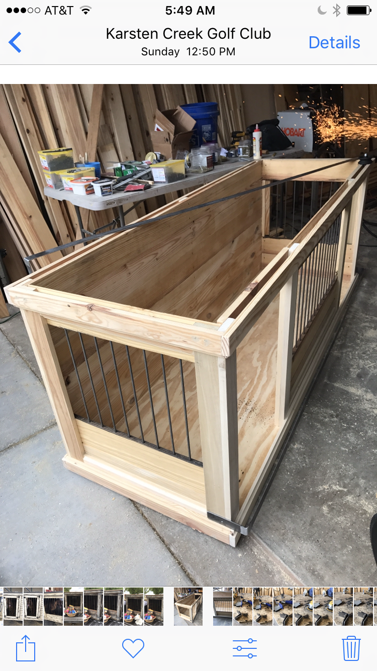 Xl Dog Beds >> Farmhouse Style Indoor double dog kennel! Benjamin Moore ...