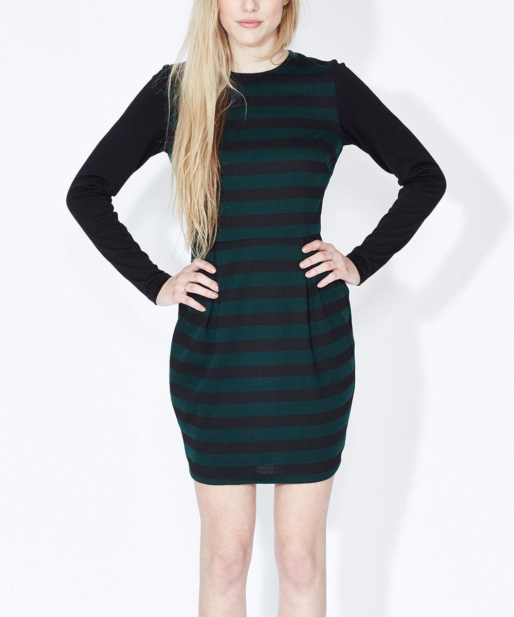 Sugarhill Boutique Black & Green Maria Dress | zulily