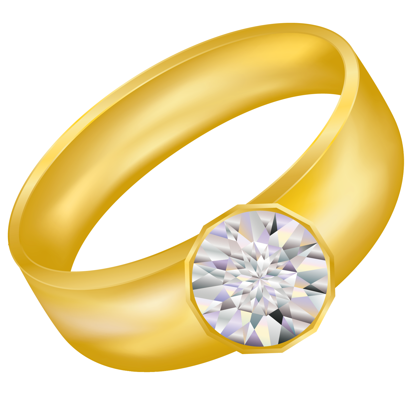 Gold Ring With Diamond Png Image Diamond Rings Golden Ring