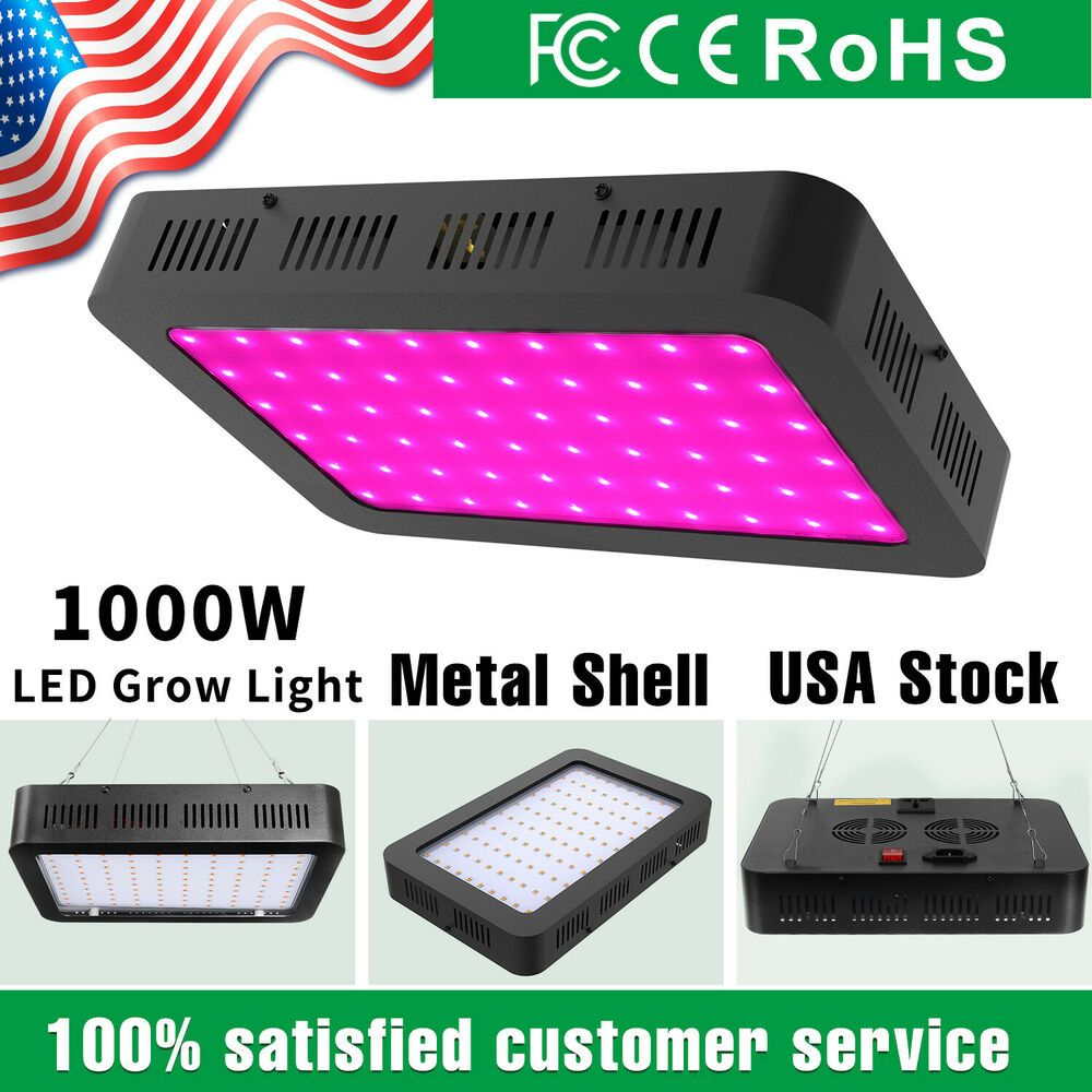 1000 Watt Led Grow Lights Lamp Full Spectrum For Indoor Plants Vegetable Flower Unbranded Modern With Images Led Grow Lights Grow Lights Led Grow