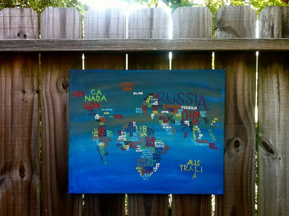 Map with names of countries just because pinterest word map the world in words canvas gumiabroncs Image collections
