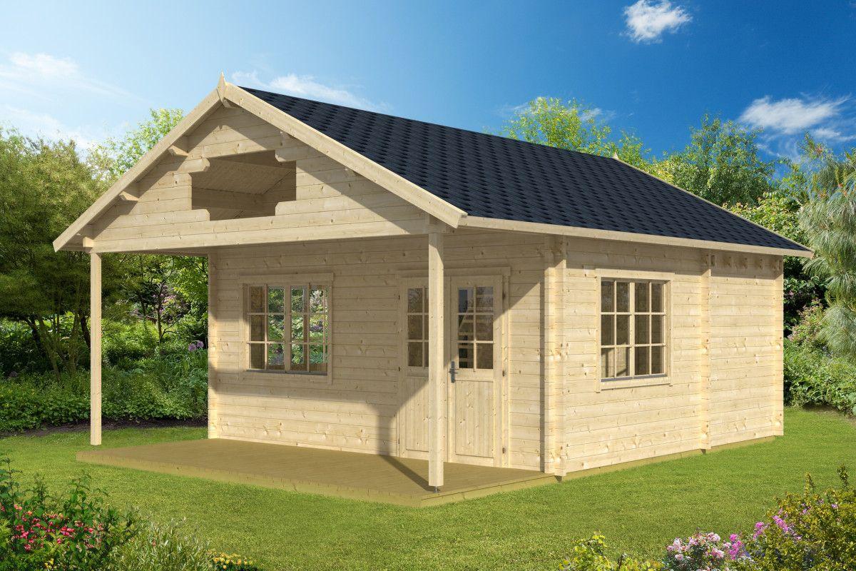 Gartenhaus mit Dachterrasse Stockholm 25m² / 58mm / 5x5