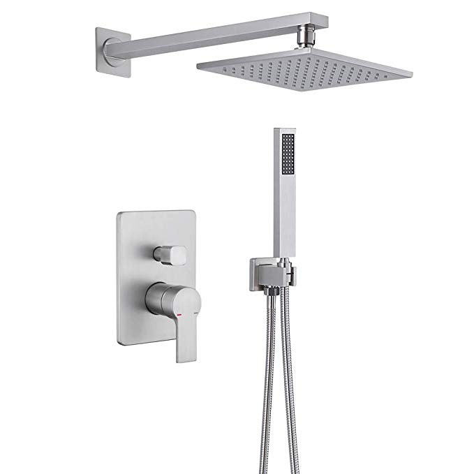 Bathroom Shower Faucet System Hmegao Brushed Nickel Shower Faucet