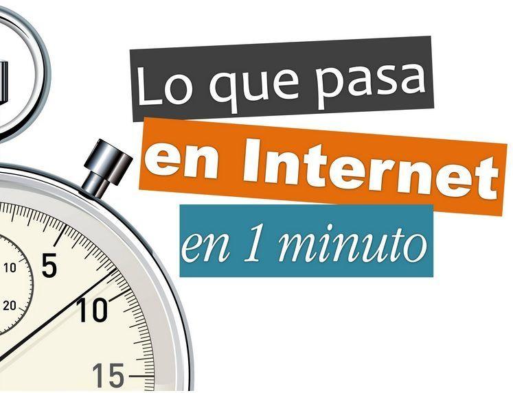 Todo lo que ocurre en Internet en un minuto. #Internet #RedesSociales