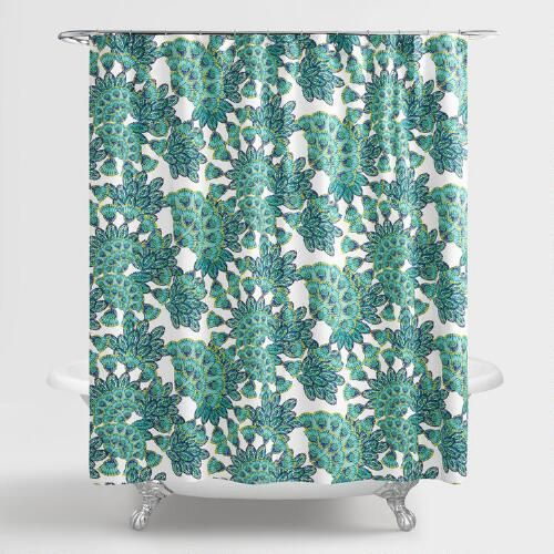 One Of My Favorite Discoveries At WorldMarket Blue And Green Peacock Shower Curtain