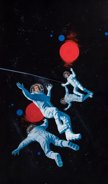 Dean Ellis four astronauts lost in space. Very 70's Bond. In fact - is that guy Roger Moore?