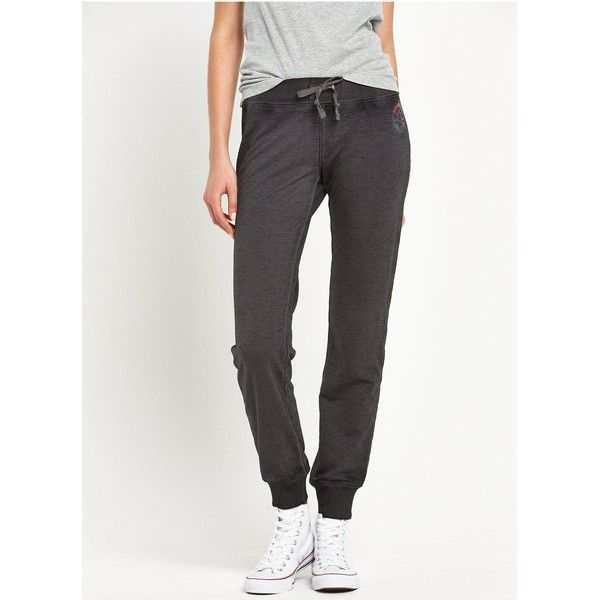 Converse Burnout Pant (34 CAD) ❤ liked on Polyvore featuring pants, cuff pants, white jogger pants, converse pants, jogger trousers and cuffed jogger pants