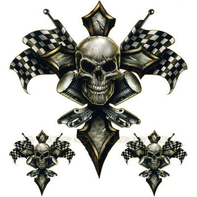 skull piston cross checkered flag cool pinterest checkered flag. Black Bedroom Furniture Sets. Home Design Ideas