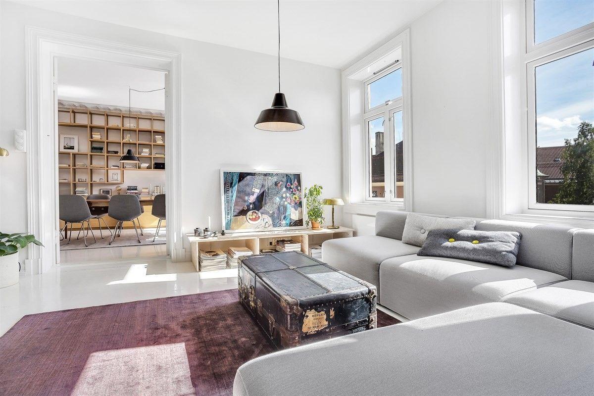 Minimalistisch mooie woonkamer uit oslo woonkamer