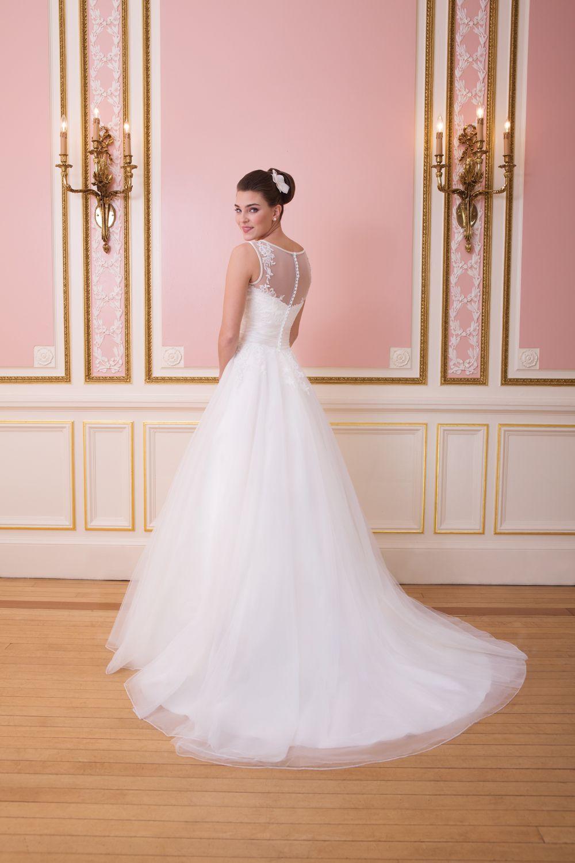 Brautkleid Sweetheart Style 6007 Spitze ausgefallener Rücken ...