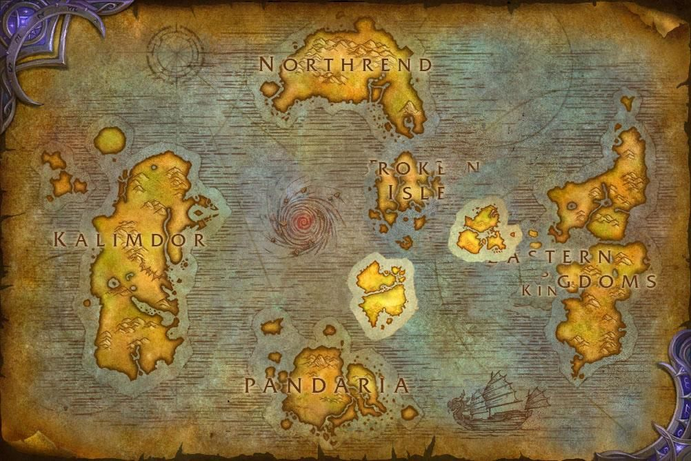 Updated World Map for BfA (based on trailers) #worldofwarcraft - new apple app world map