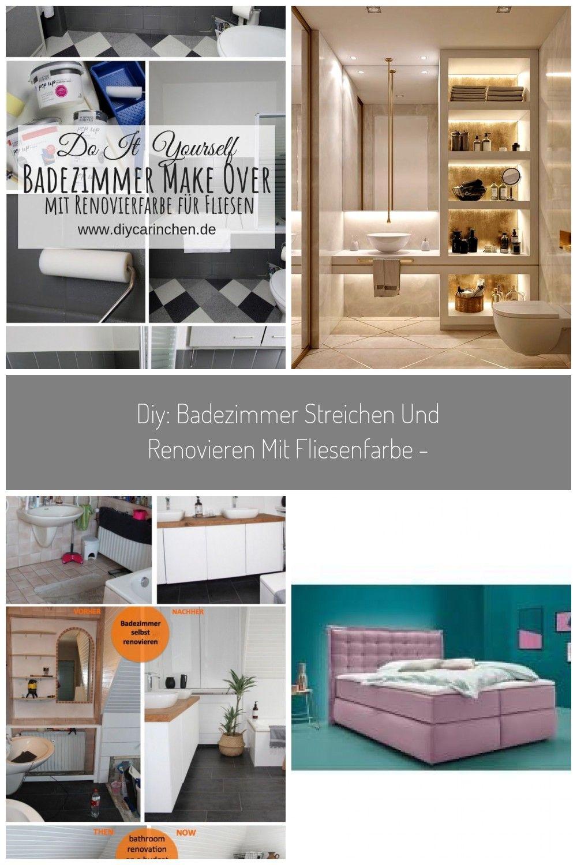 Diy Badezimmer Streichen Und Renovieren Mit Fliesenfarbe In 2020 Badezimmer Streichen Badezimmer Renovieren Schoner Wohnen Farbe