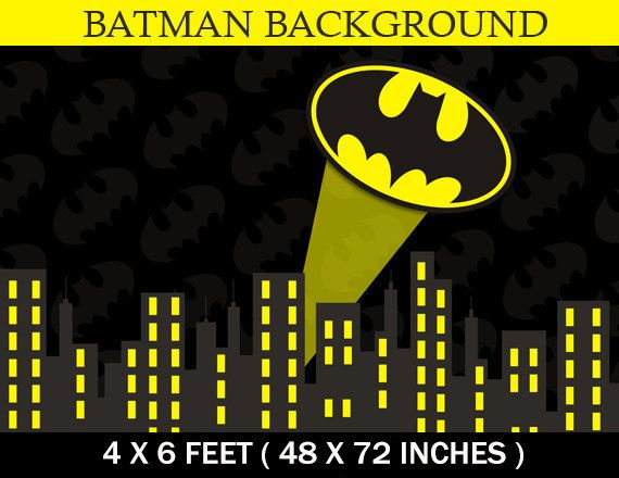 SUPERHERO Birthday Party City Scape Background Batman party