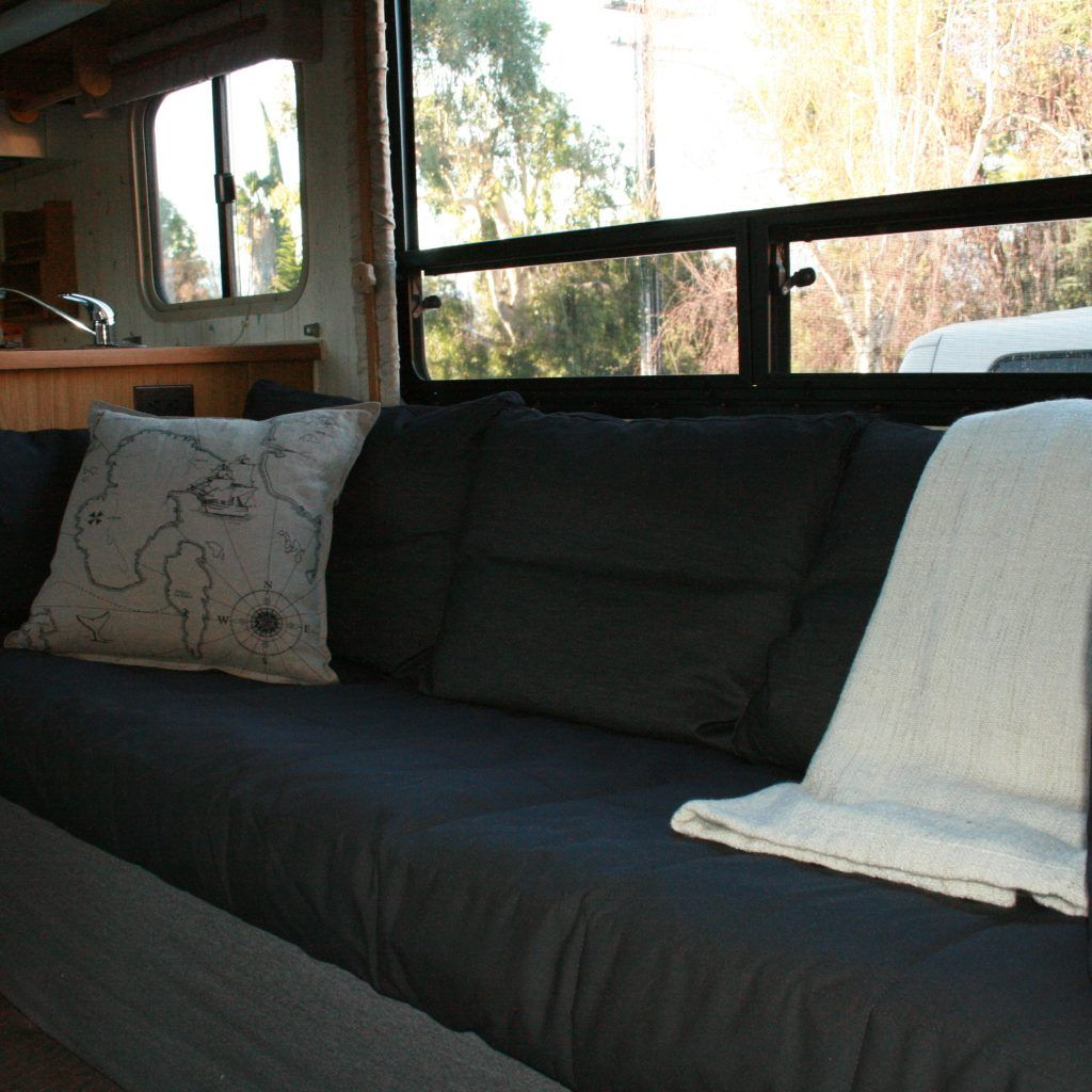 rv sleeper sofa slipcover harris tweed fabric camper covers home and textiles