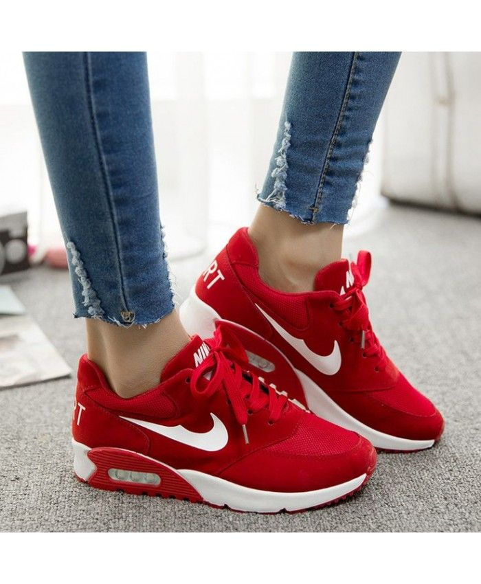 nike air max essential sneakers red