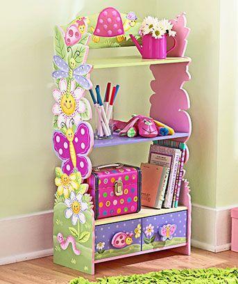 Repisa biblioteca para el cuarto de la ni as quiero for Cuartos para ninas pintura