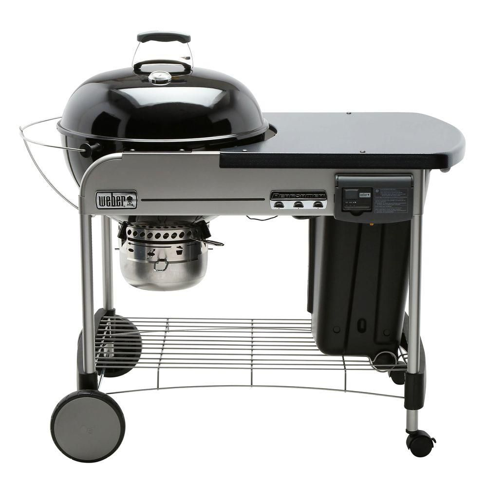 Weber 22 in. Performer Deluxe Charcoal Grill in Black with