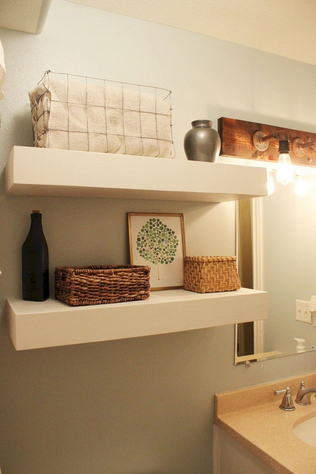 24 Diy Bathroom Wall Shelves Design And Organization Ideas Floating Shelves Diy Bathroom Wall Shelves Floating Shelves