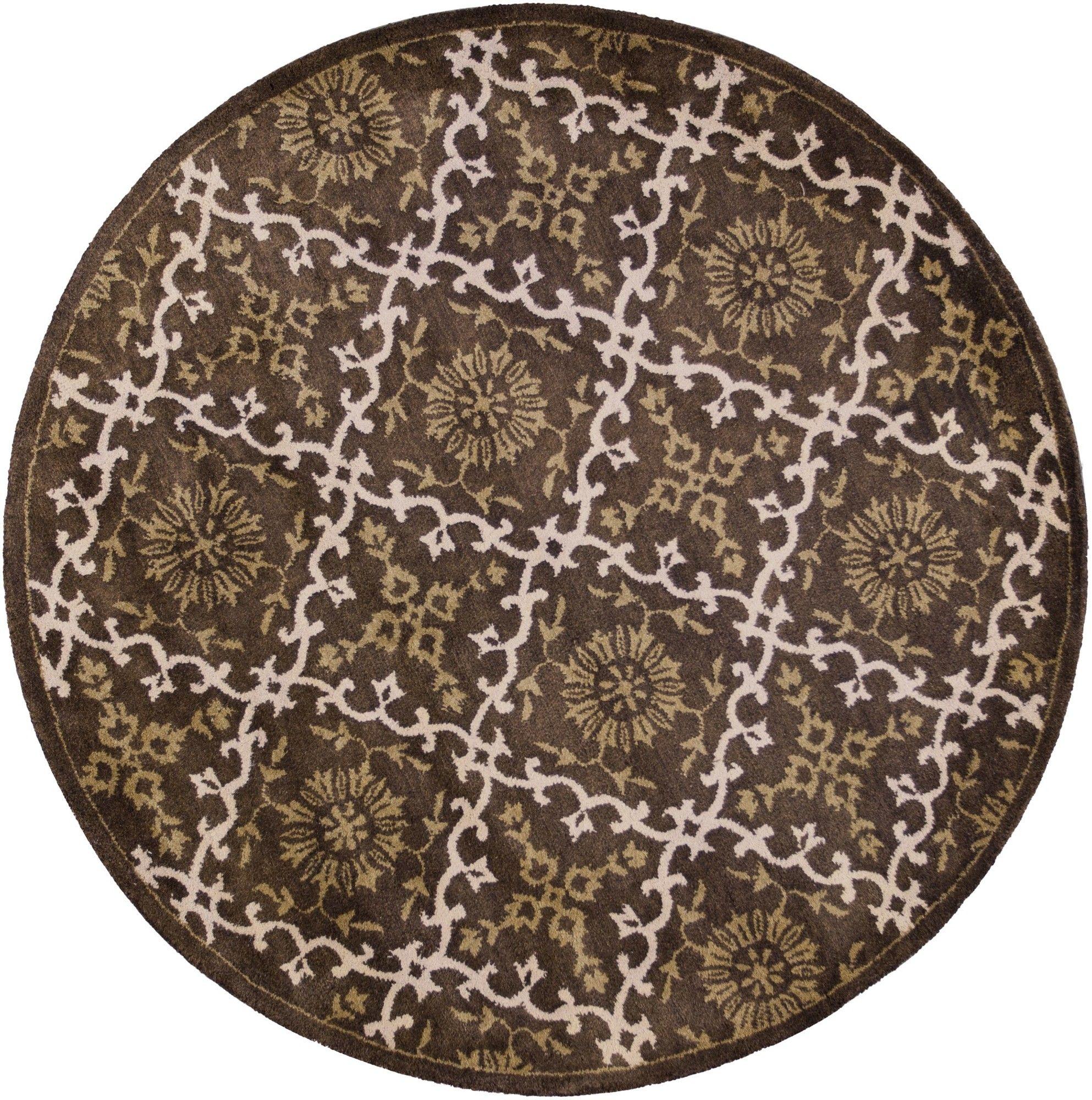 Balham Hand-Tufted Mocha Area Rug