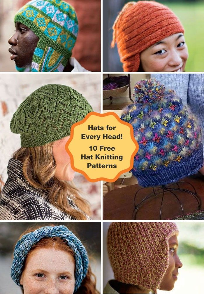 So many hats, so little time! Get 10 free hat knitting patterns with ...