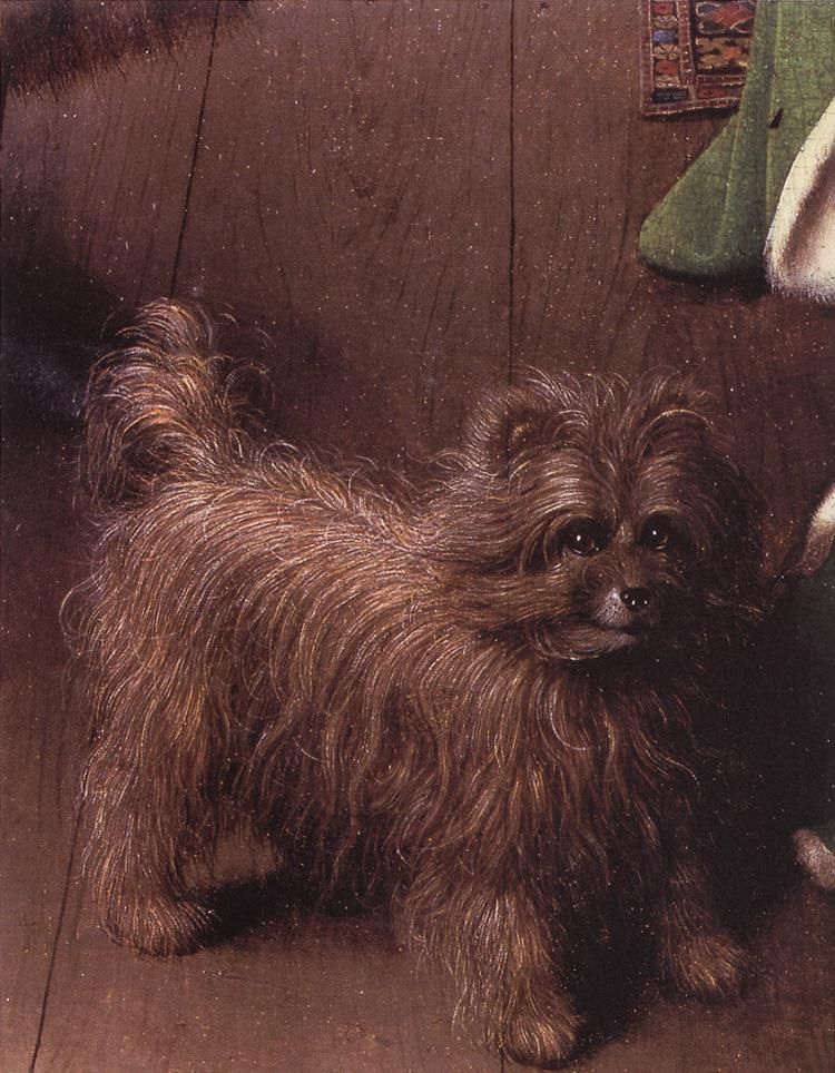The Dog In Arnolfini Wedding Portrait 1434 National Gallery London