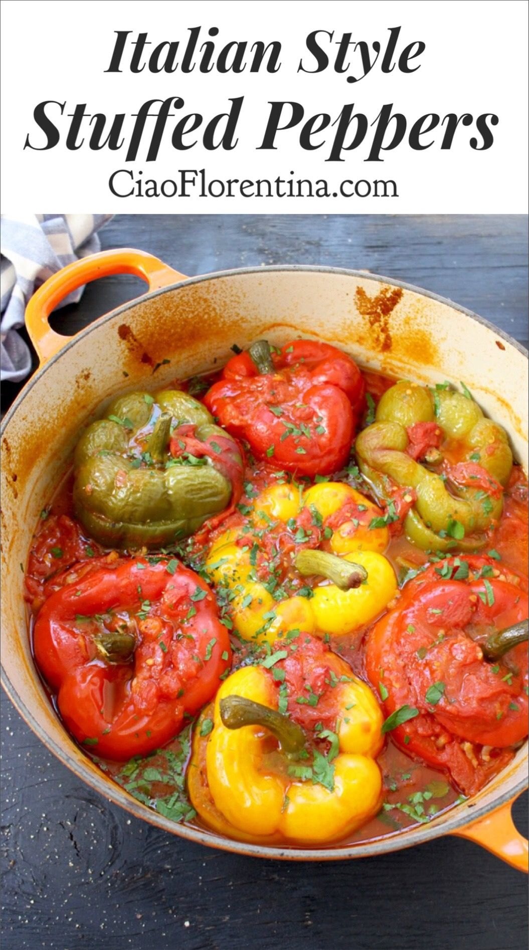 Best Vegetarian Stuffed Peppers Recipe Ciaoflorentina Recipe Peppers Recipes Stuffed Peppers Best Stuffed Pepper Recipe