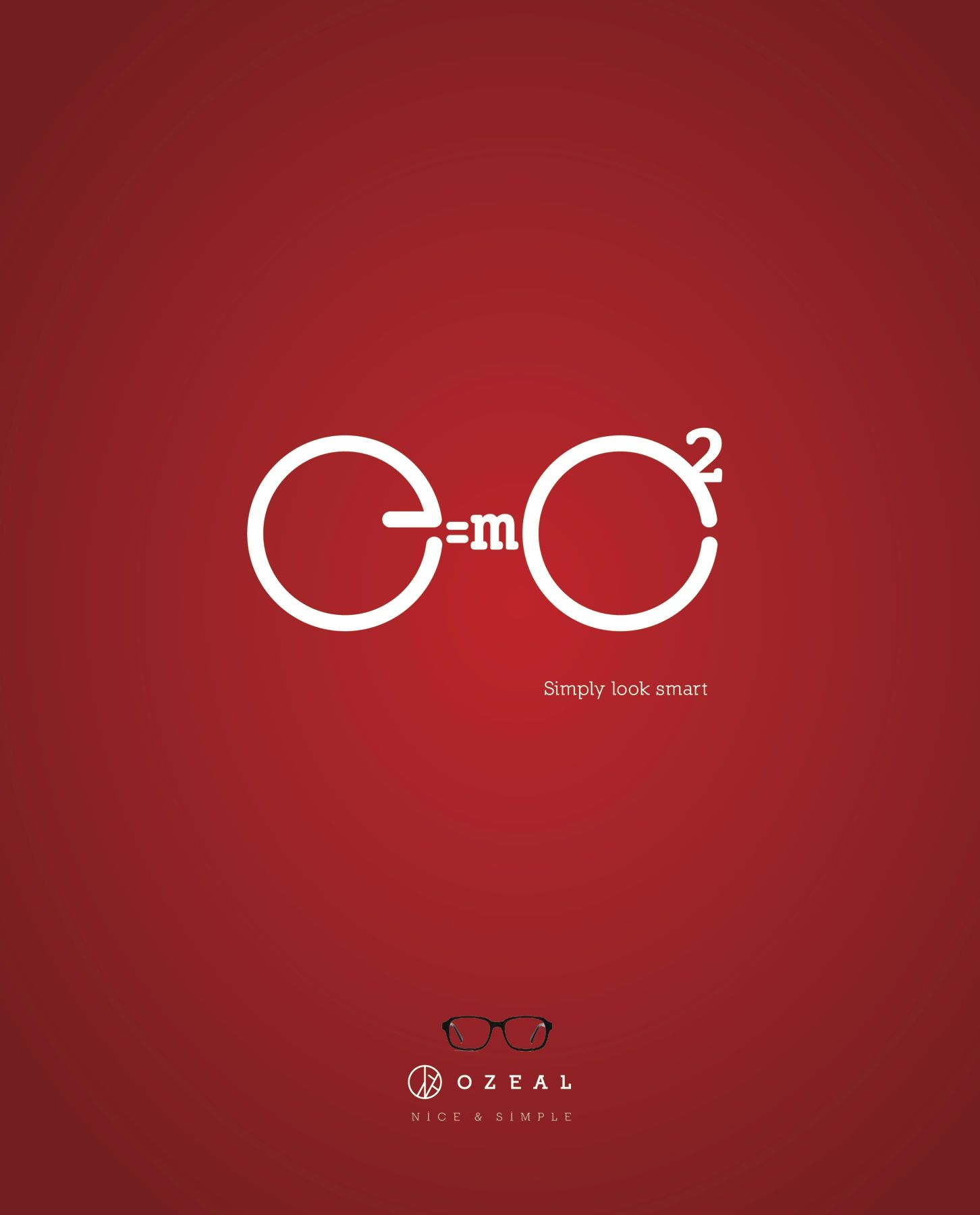 A poster campaign for OZEAL, a glasses brand, was developed to ... for Simple Poster Design Inspiration  113cpg