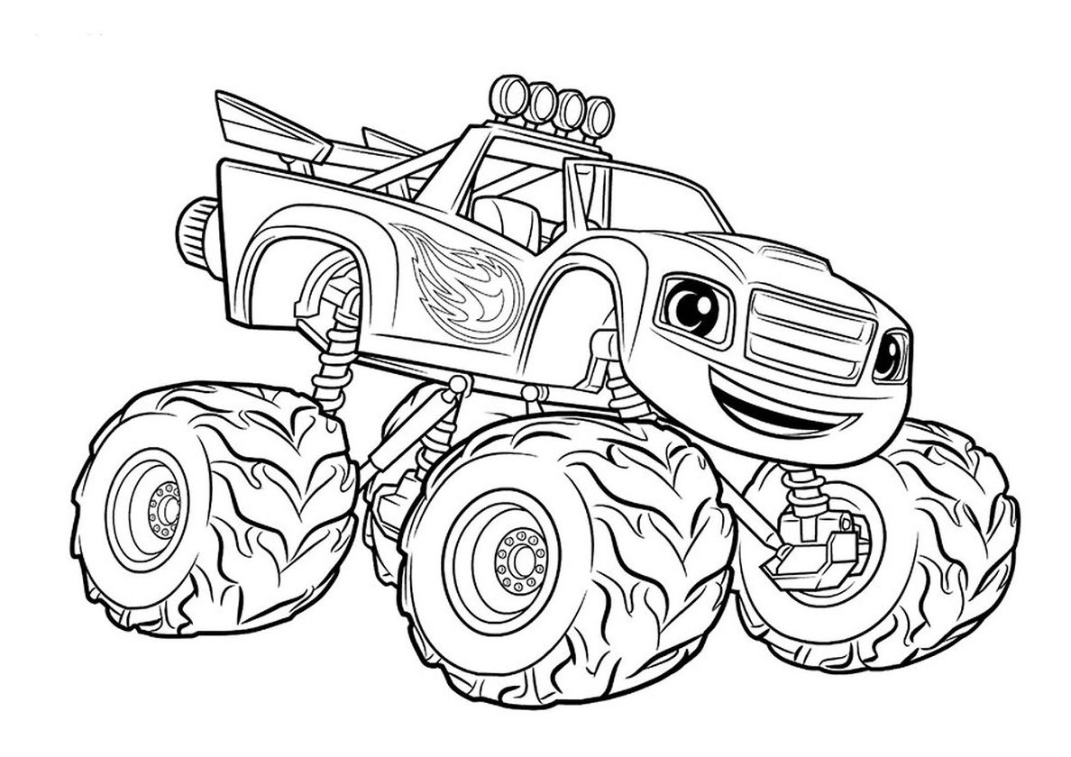 Blaze With Images Monster Truck Coloring Pages Truck Coloring