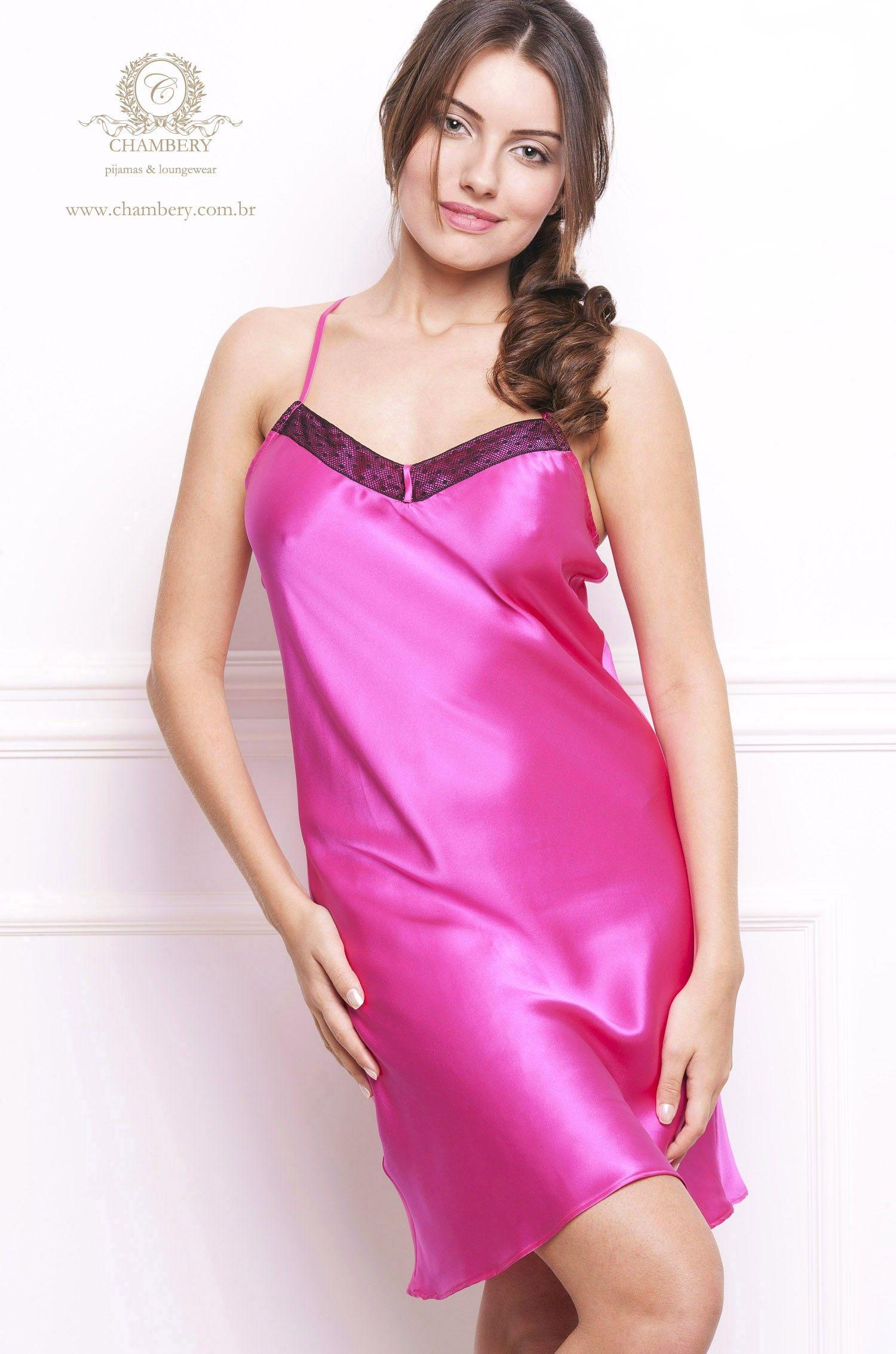 18f53f5fd Camisola Livia Seda Pura Chambery - Pijamas   Loungewear